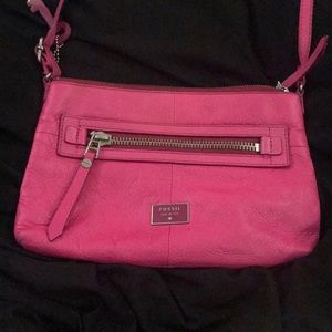 Pink Fossil purse!